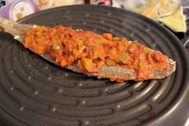 sole grillée à la tomate