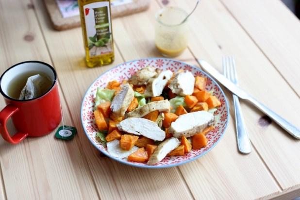 salade de poulet et patate douce