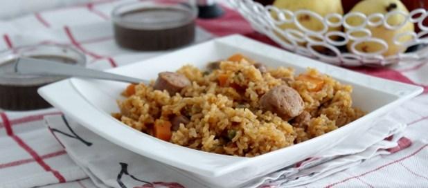 riz sauté saucisse