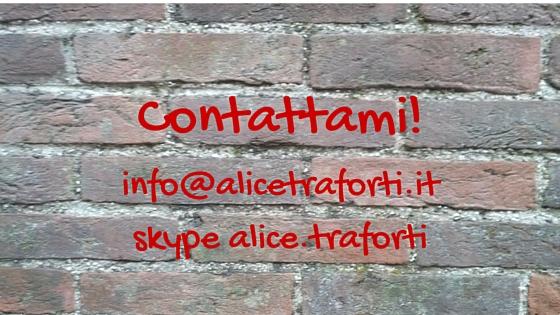 Contatti Alice Traforti