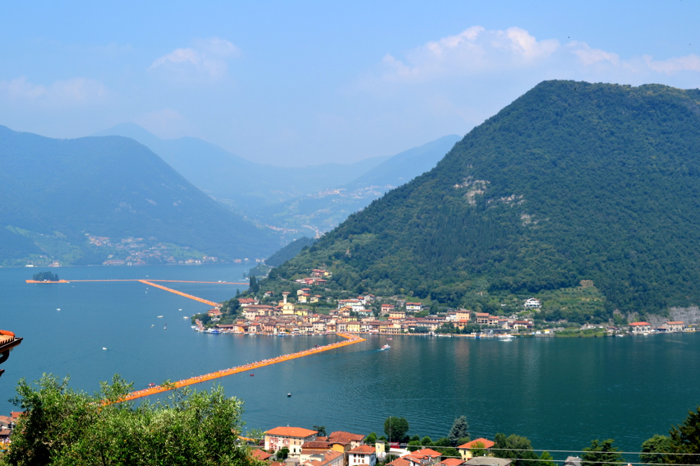 The floating piers - foto dall'alto