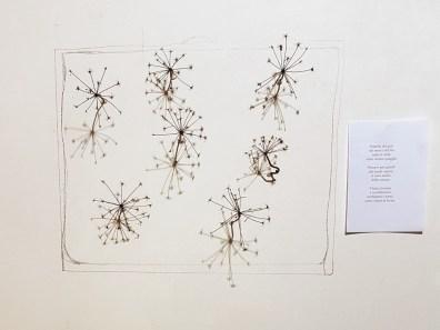 """Elvezia Allari: da """"Sfalci e ramaglie"""", installazione arborea con finocchio selvatico, 2018"""