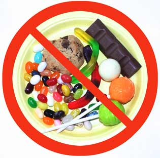 Resultado de imagen para no comer dulces