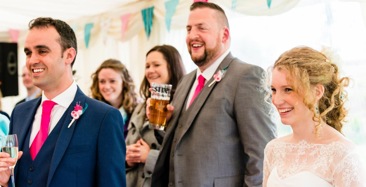 Gloucestershire wedding photographer best mans speech