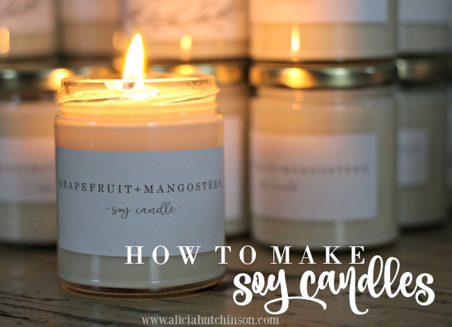 HOW TO MAKE SOY CANDLES - over at alicia's