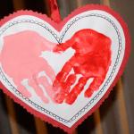handprint heart Valentine ideas for children