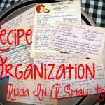 Recipe Organization