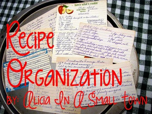 recipe organization copy