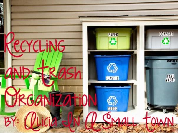 recycling and trash organization