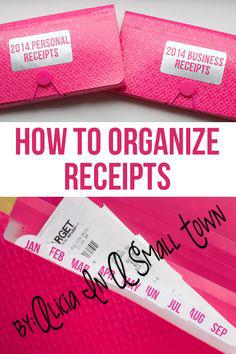receipt organization copy