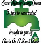 Save Money Going Green- Save Water!