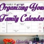 Organizing Your Family Calendar
