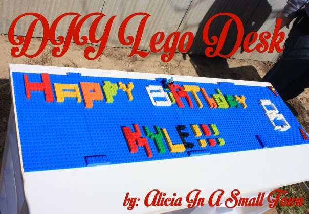 DIY Lego Desk Happy Birthday Kyle