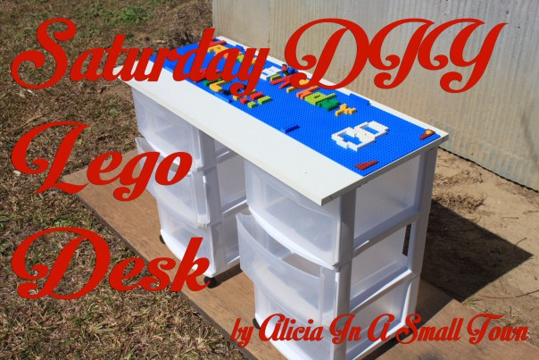 DIY Lego Desk for a birthday present