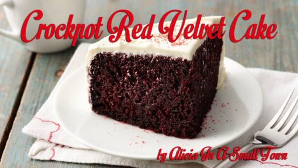 Crockpot Red Velvet Cake