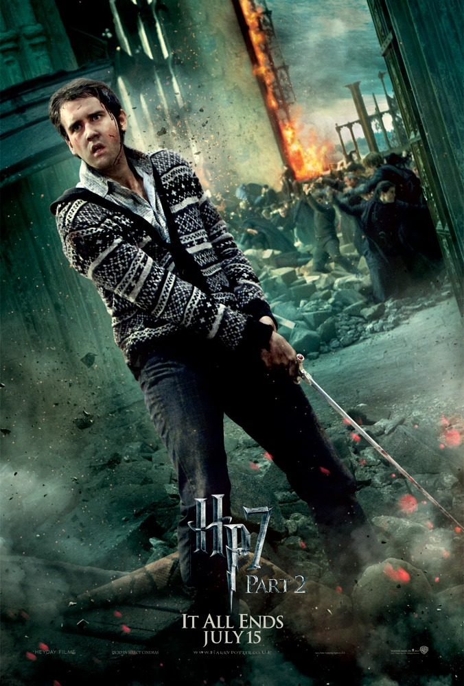 Neville Longbottom defending Hogwarts - Deathly Hallows Part 2