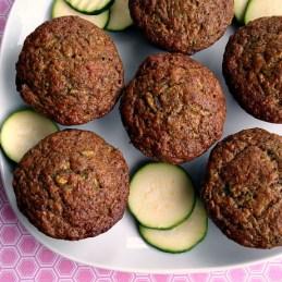 Zucchini, Banana, and Flaxseed Muffins | alidaskitchen.com