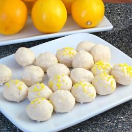 cream cheese cookies with lemon glaze