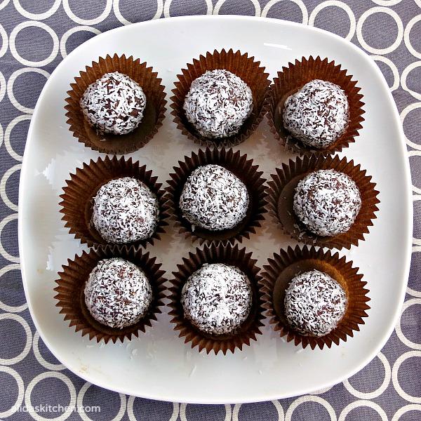 Healthy Chocolate Coconut Truffles | alidaskitchen.com
