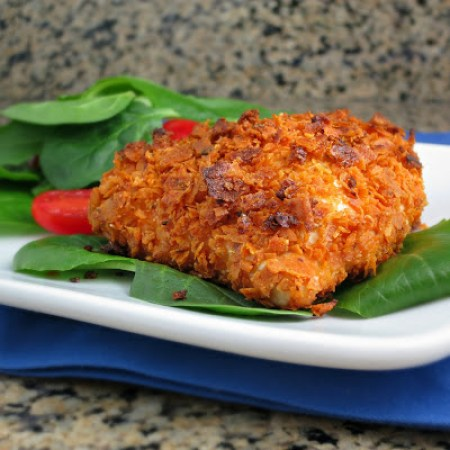 baked dorito-crusted chicken