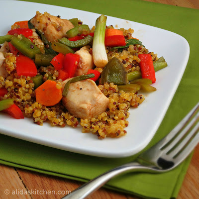 healthy baked sweet and sour chicken with quinoa | alidaskitchen.com