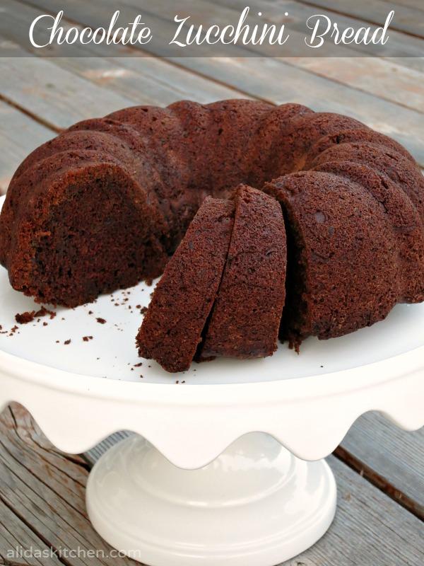 Chocolate Zucchini Bread Bundt Cake | alidaskitchen.com