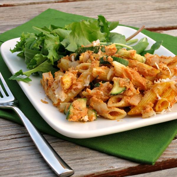 Baked Pumpkin Pasta from alidaskitchen.com