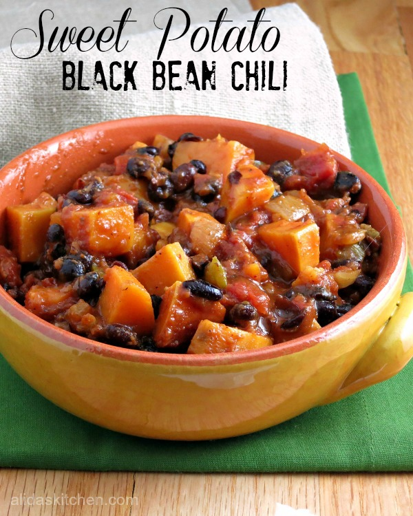 Sweet Potato Black Bean Chili from Alida's Kitchen