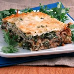 Mushroom Bolognese Kale Lasagna #SundaySupper
