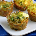 Broccoli, Cheddar & Egg Hashbrowns Cups