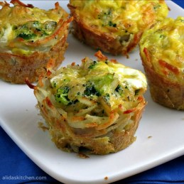 Broccoli Cheddar & Egg Hashbrowns Cups | alidaskitchen.com #recipes #OreIdaHashbrown #shop #cbias