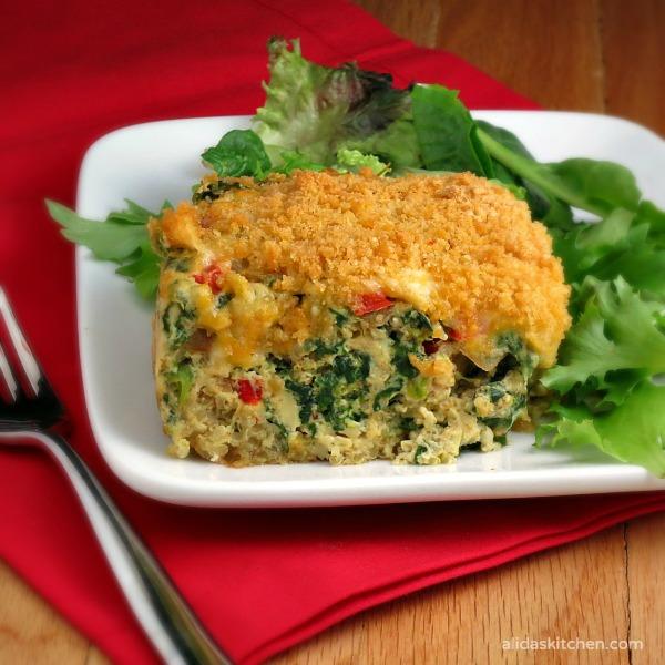 Southwestern Quinoa Egg Bake | alidaskitchen.com #recipes #brunch #FreshTake #cbias #shop