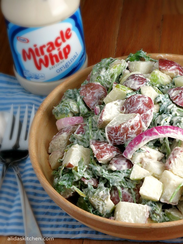Kale and Apple Potato Salad | alidaskitchen.com  #recipes #potatosalad #ProudOfIt