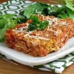 Chicken Parmesan Quinoa Bake #SundaySupper
