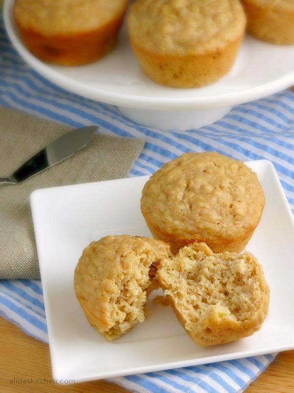 Pineapple Oatmeal Muffins | alidaskitchen.com