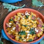 Stovetop Kale Macaroni and Cheese