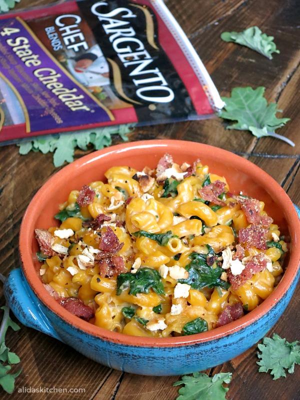 Stovetop Kale Macaroni and Cheese | alidaskitchen.com