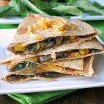 Black Bean Spinach Baked Quesadillas