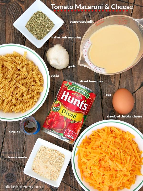 Tomato Macaroni and Cheese | alidaskitchen.com