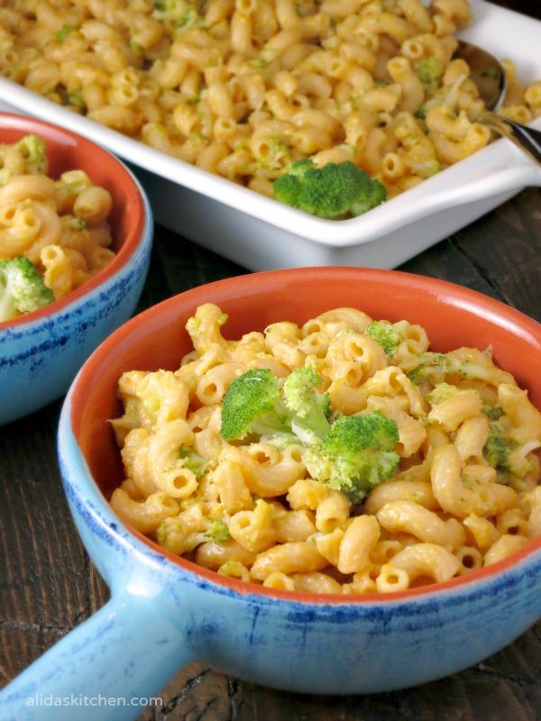 Broccoli Cheddar Mac & Cheese | alidaskitchen.com