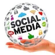 Hand holding a Social Media 3d Sphere