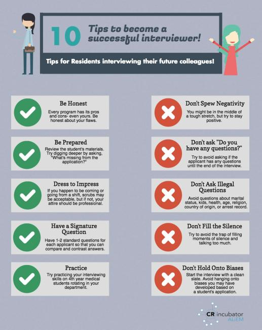 10 tips for successful interviewing infographic