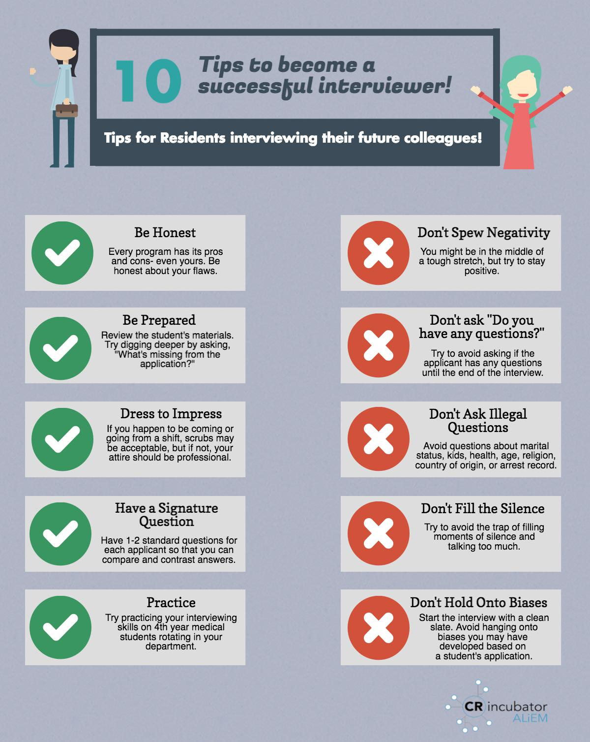 10 Tips to Become a Successful Interviewer: Do's and Don'ts