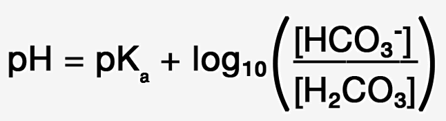 Figure 6. Substitute HCO3 and H2CO3 for HA and A-
