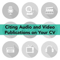 Audio and Video Publications on CV © Can Stock Photo / steinar14