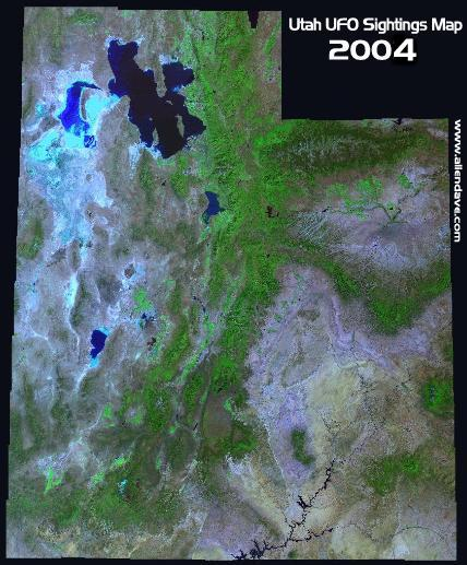 UUFOH Utah sightingsmap Will the greater Salt Lake City Area be 2004 s UFO hotspot like in 2003