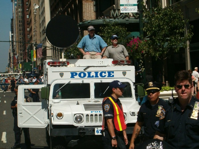 Pictured: Police Truck Fitted With LRAD System