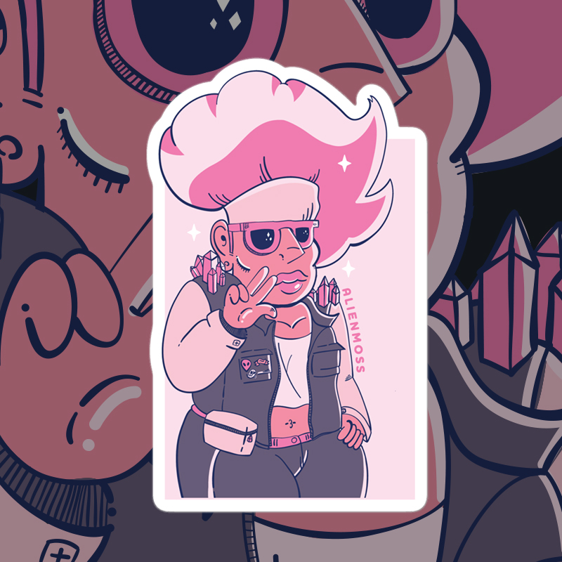 Pink Lady Sticker