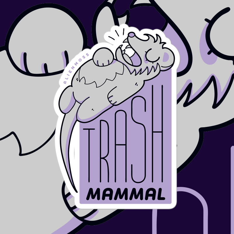 Trash Mammal Sticker