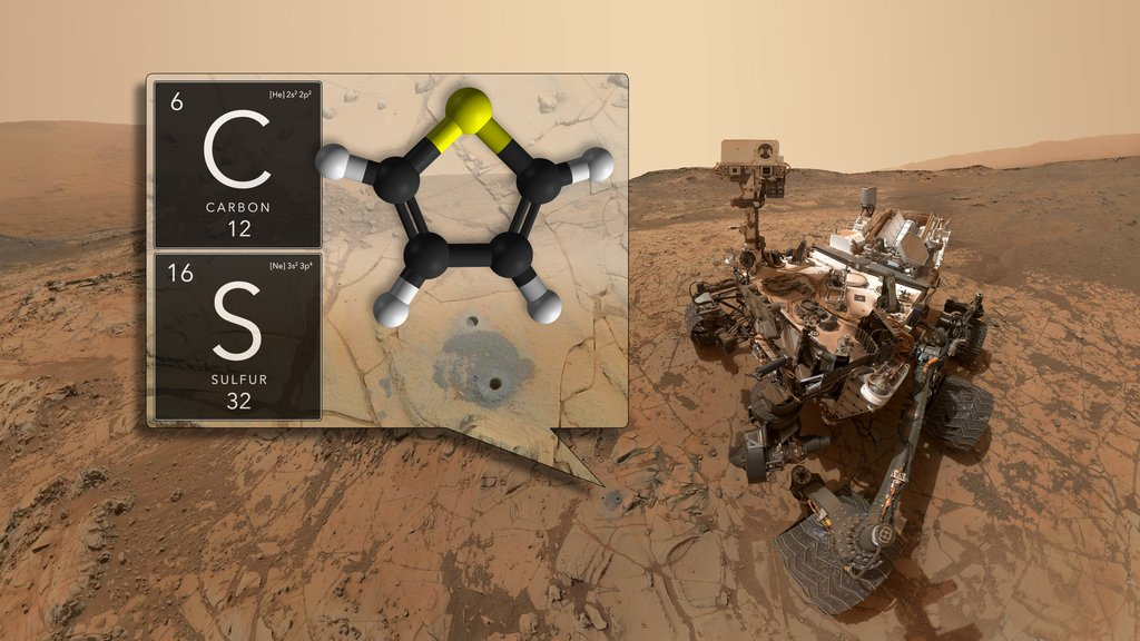 Curiosity Finds Organic Matter in Martian Lake Bed
